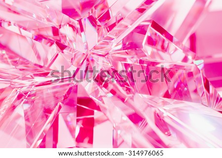 abstract pink background of crystal refractions - stock photo