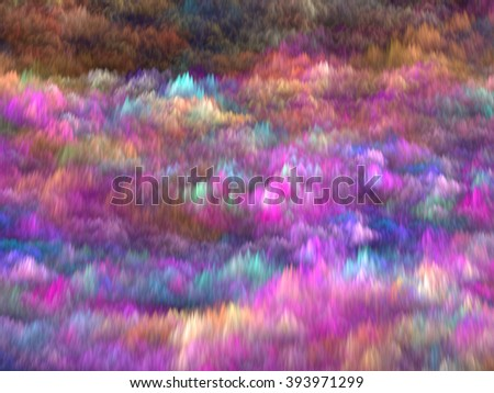 Abstract pink blurred background - computer-generated image. Chaos waves like futuristic cloud. Bright colored background for banners, covers, web-design