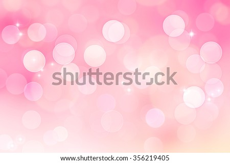 Abstract pink bokeh background - stock photo