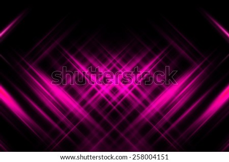 Abstract pink fractal background with various color lines and strips - stock photo