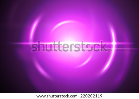 Abstract pink lensflare with rings and streaks - stock photo