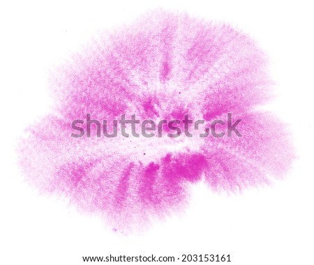 Abstract pink painted ink strokes on the white background.