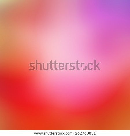 abstract pink purple and gold blurred background, smooth romantic color splashes with soft white shiny center for typography or text - stock photo