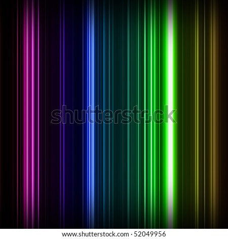 Abstract pink, purple, blue, green, and yellow vertical lines. - stock photo