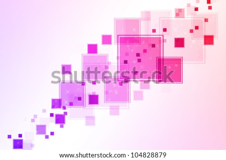 abstract pink red and purple box square background. - stock photo