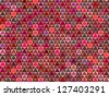 abstract pink red pattern backdrop with triangular shape - stock photo