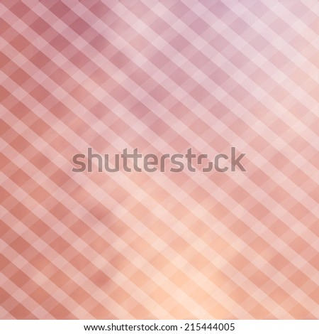 abstract pink striped checkered background pattern with blurred blotchy under painting with white faded lines angled in soft overlay, blue checkerboard background - stock photo