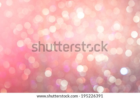 Abstract Pink & Violet Glitter Christmas Light blurred background  - stock photo