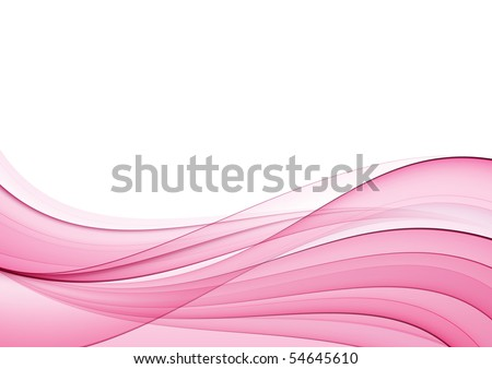 Abstract pink wave, background - stock photo
