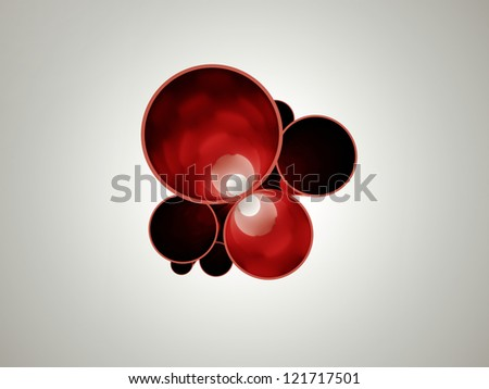 Abstract pipe concept red - stock photo