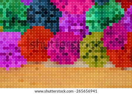 Abstract pixel colorful background ,created technique from color paper - stock photo