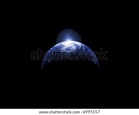 Abstract Planet Background - stock photo