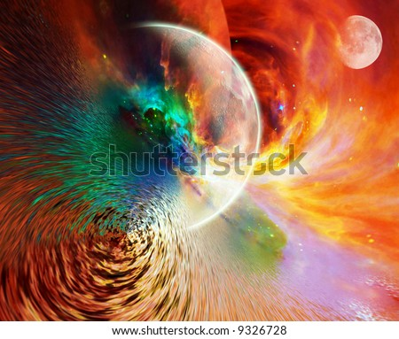Abstract Planetary Background - stock photo