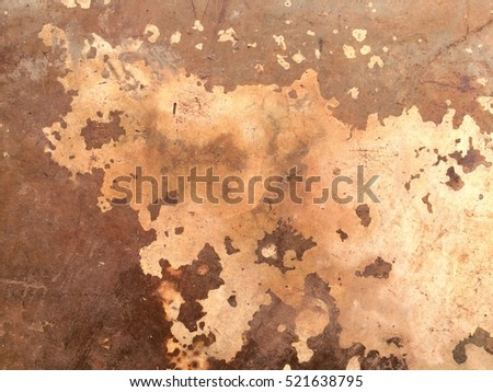 Abstract, Polish cement floor defect with dirty fungus or mold on old grungy concrete texture background