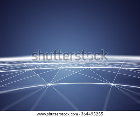 Abstract Polygonal Space Blue Background with Low Poly Connecting Dots and Lines - Connection Structure - Futuristic HUD background - stock photo