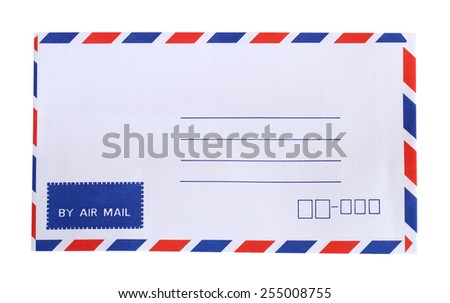 Abstract post envelope colorful background