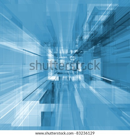 Abstract project. Modern architecture background - stock photo