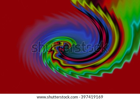 Abstract psychedelic colorful background. Illustration. Can be used for your design.