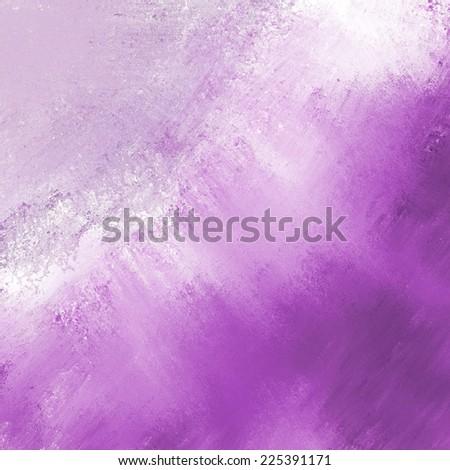 abstract purple background pale stripe of light messy white grunge paint on dark purple color border corner - stock photo