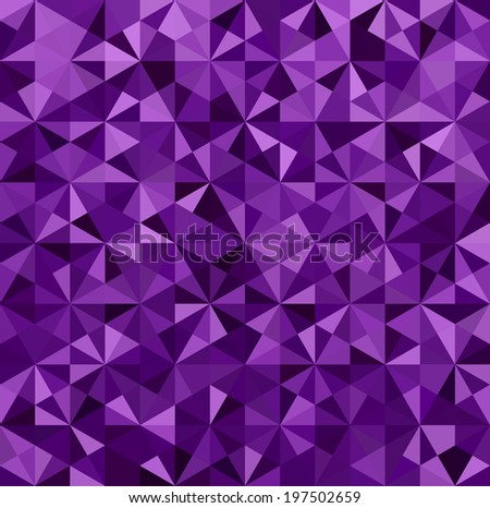 Abstract Purple Triangle Geometrical Background,   Raster Version - stock photo