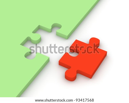 Abstract puzzle - stock photo