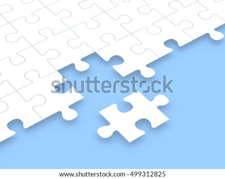 Abstract puzzle background. Computer generated image.