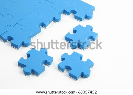 abstract puzzle background with  piece missing