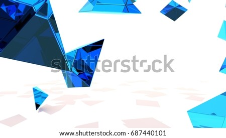 Abstract Pyramid Shape 3D Background Render.