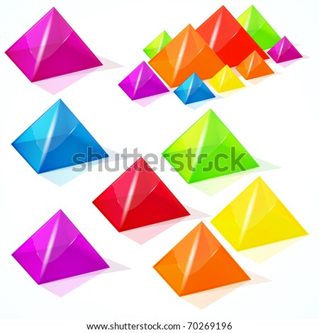 Abstract pyramids. - stock photo