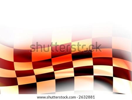 abstract racing flag - stock photo