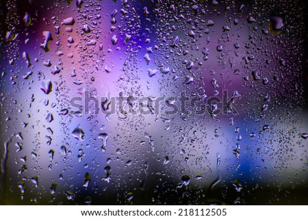 Abstract rain background - stock photo