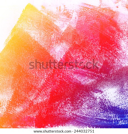 Abstract rainbow background with oil paint texture - stock photo