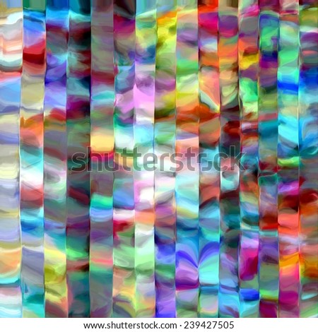 Abstract rainbow blurred lines color splash paint art background - stock photo
