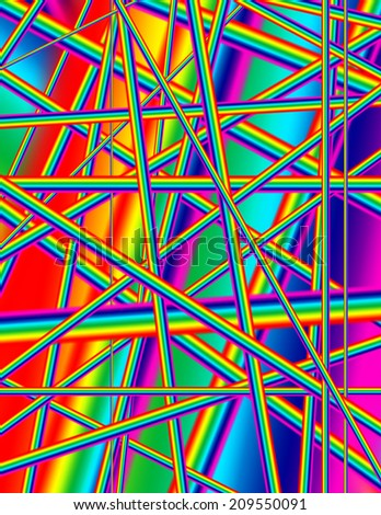 Abstract rainbow colored background image - stock photo