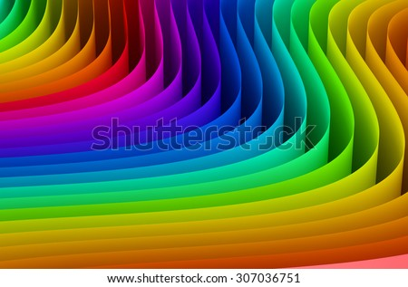 Abstract rainbow colors wave background - stock photo