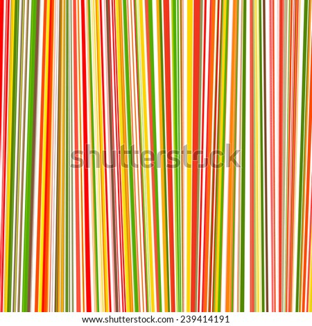 Abstract rainbow curved stripes color line art background - stock photo