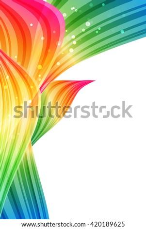 Abstract rainbow petals, bright template - stock photo