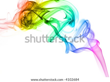Abstract rainbow smoke