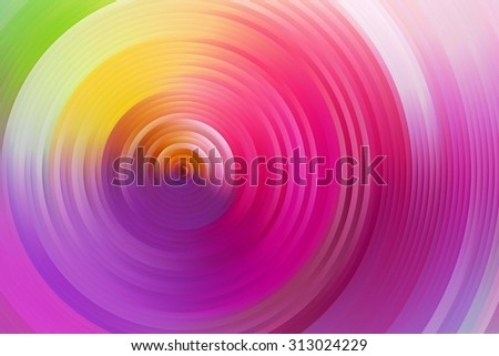 Abstract rainbow spiral, colorful background. colored circles surround. Raster version  - stock photo