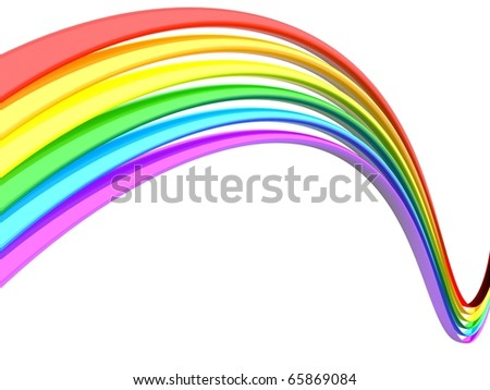 Abstract rainbow white background - stock photo