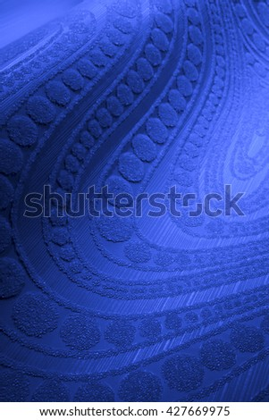 ABSTRACT, RAISED, BLUE PATTERN, CLOSEUP BACKGROUND