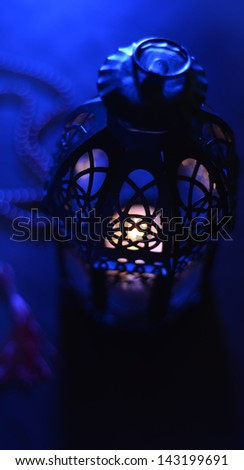 Abstract ramadan lamp - stock photo