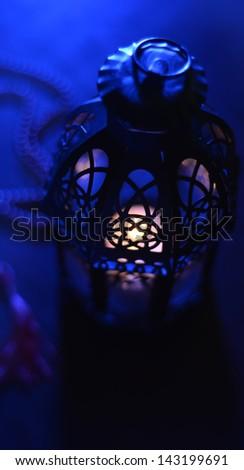 Abstract ramadan lamp - stock photo