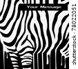 abstract raster zebra silhouette with smudges barcode - stock photo