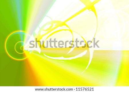 abstract ray on colorful lines