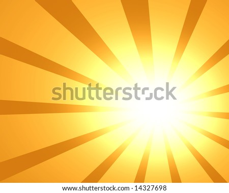 abstract rays on a yellow background