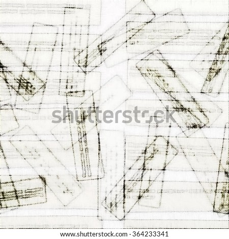 Abstract rectangular form.