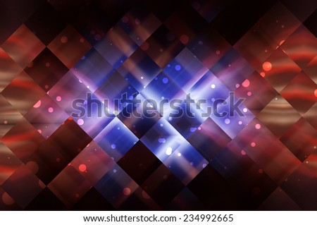 Abstract recursive multicolored bright brilliant background - stock photo