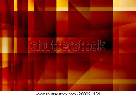 Abstract red and yellow arrows background - stock photo