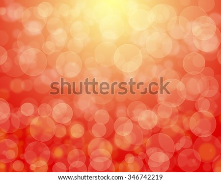 Abstract red background bokeh effect and yellow highlight - stock photo